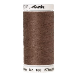 Thread bobbin Mettler Seralon 274 m - N°387 - Brown Mushroom