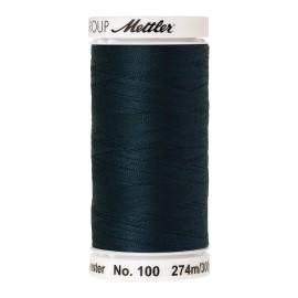Bobine de fil Mettler Seralon 274 m - N°763 - Bleu verdâtre foncé