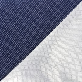 Tissu jacquard réversible Goldy - bleu nuit x 10cm