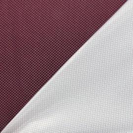 Reversible jacquard fabric Goldy - lie de vin x 10cm