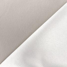 Reversible jacquard fabric Goldy - pearl grey x 10cm