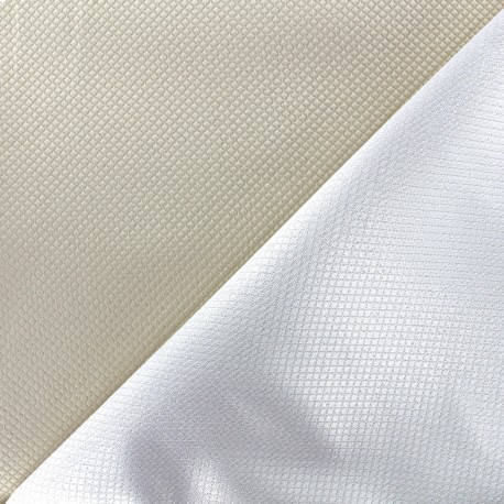 Reversible jacquard fabric Goldy - light beige x 10cm