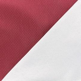 Reversible jacquard fabric Goldy - carmine x 10cm