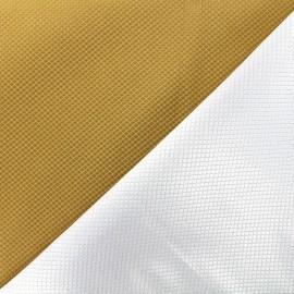 Tissu jacquard réversible Goldy - mordoré x 10cm
