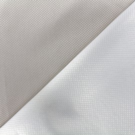Tissu jacquard réversible Goldy - gris clair x 10cm