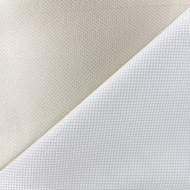 Reversible jacquard fabric Goldy - light gold x 10cm