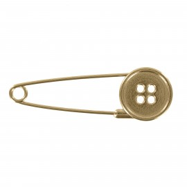 Kilt safety pin Button - bronze