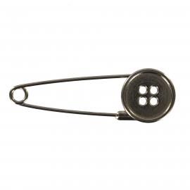 Epingle Kilt Bouton - métal noir