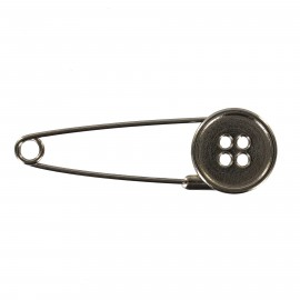 Kilt safety pin Button - black metal
