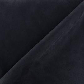 Suede elastane fabric Soft - navy x 10cm