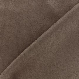 Suede elastane fabric Soft - brown x 10cm
