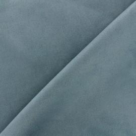 Tissu Suédine élasthanne Soft - bleu x 10cm