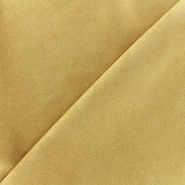 Suede elastane fabric Soft - yellow x 10cm
