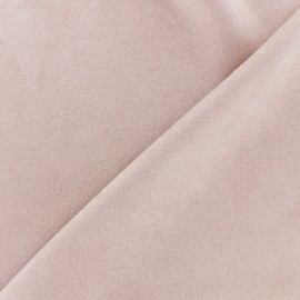 Tissu Suédine élasthanne Soft - rose clair x 10cm