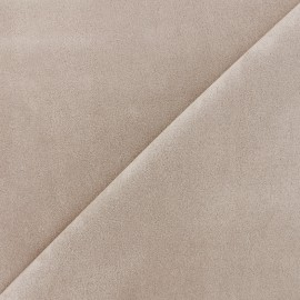 Suede elastane fabric Soft - light beige x 10cm