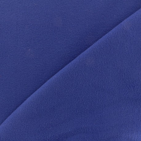 Coat wool fabric - royal blue x 10cm