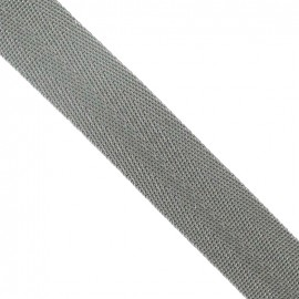 Polypropylene strap, herringbone 25 mm - dark grey