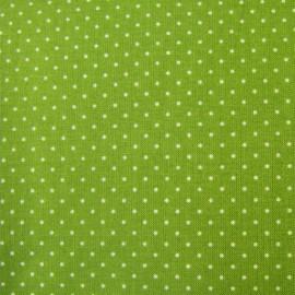 Tissu mini pois vert olive x 10cm