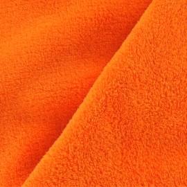 Tissu Doudou uni orange x 10cm