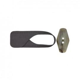 Brandebourg bouton - gris