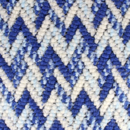 Stitch mool fabric Chevron - blue x 10cm