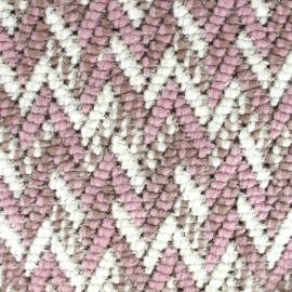 Stitch mool fabric Chevron - pink x 10cm