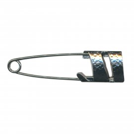 Kilt safety pin Hildegarde - black metal