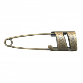 Kilt safety pin Hildegarde - bronze