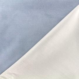 Bicolored suede elastane fabric - blue x 10cm