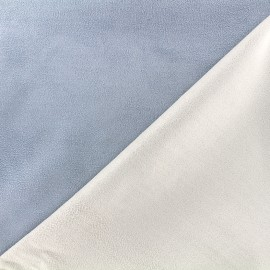 Bicolored suede elastane fabric - blue x 10cm