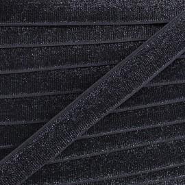 Lurex elastic - black Jess x 1m