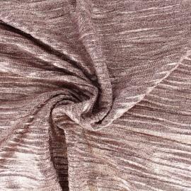 Tissu Maille plissée métallisée - rose x 10cm