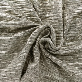 Pleated metallic stitch fabric - light gold x 10cm