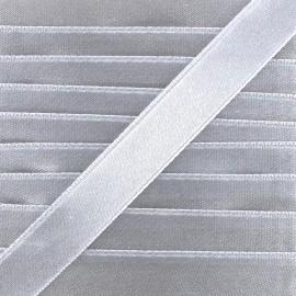 Satin ribbon - silver x 1m