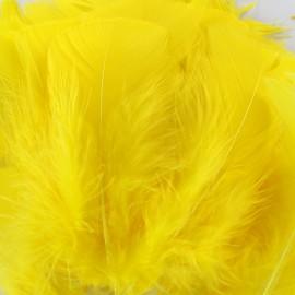 Sachet de plumes duvet colorées - jaune