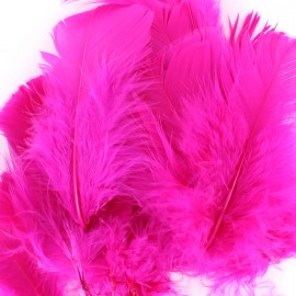 A pack of fluff feathers - fuchsia
