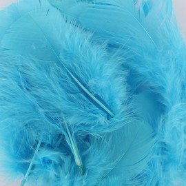 A pack of fluff feathers - blue