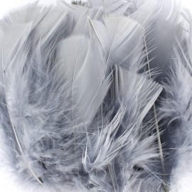 A pack of fluff feathers - grey