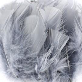 Sachet de plumes duvet colorées - gris