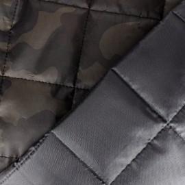 Tissu doublure matelassé Camouflage - kaki x 10cm
