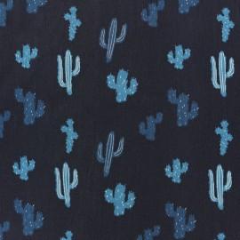 Tissu popeline Madame casse bonbon - Kaktus x 10cm