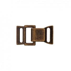 Fermoir métal crochet et oeil - bronze