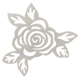 Iron-on applique openwork Flower - gold