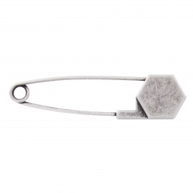 Kilt safety pin Keyliah - old silver