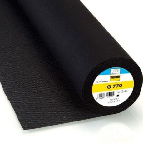 Vlieseline hot-melt canvas covering – black x 10cm