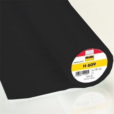 Entoilage léger thermocollant vlieseline H609 - noir x 10cm