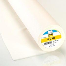 Entoilage tissé thermocollant Vlieseline bi-élastique G770 - blanc x 10cm
