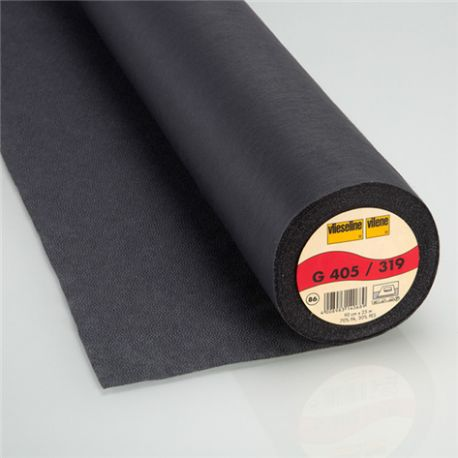 Entoilage thermocollant non tissé G405 Vlieseline Anthracite x10cm