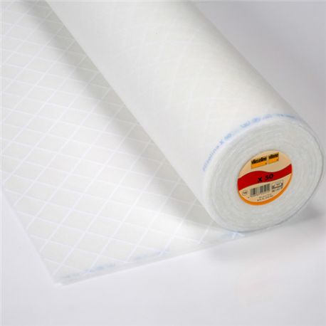 White quilted cotton wool (X50) x10cm