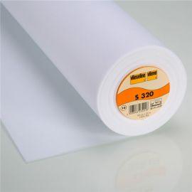 Cantonnière blanche S 320 (30 cm) Vlieseline x 10cm
